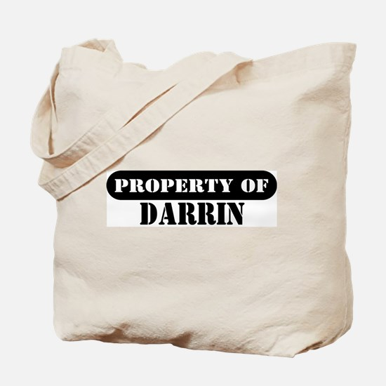 Property of Darrin Tote Bag