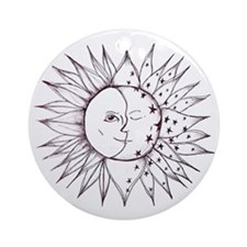 sunmoon Round Ornament