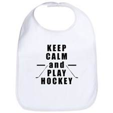 Keep Calm and Play Hockey Bib