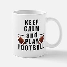 Keep Calm and Play Football Mugs