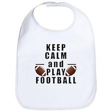 Keep Calm and Play Football Bib