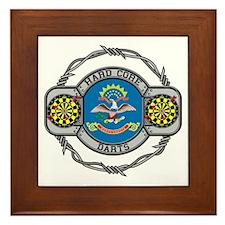 North Dakota Darts Framed Tile