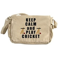 Keep Calm and Play Cricket Messenger Bag