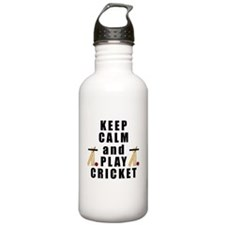 Keep Calm and Play Cricket Water Bottle
