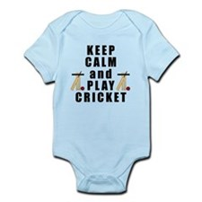 Keep Calm and Play Cricket Body Suit