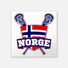 Norway Norsk Lacrosse Logo Sticker