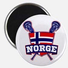 Norway Norsk Lacrosse Logo Magnets