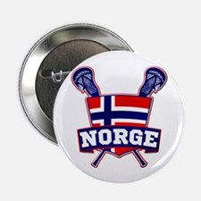 """Norway Norsk Lacrosse Logo 2.25"""" Button"""