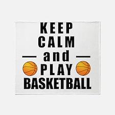 Keep Calm and Play Basketball Throw Blanket