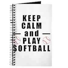 Keep Calm and Play Softball Journal