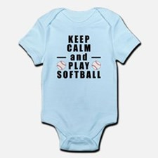 Keep Calm and Play Softball Body Suit