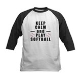 Keep calm and play softball Baseball Jersey