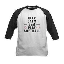 Keep Calm and Play Softball Baseball Jersey