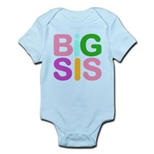 Colorful Funky Big Sis Infant Bodysuit