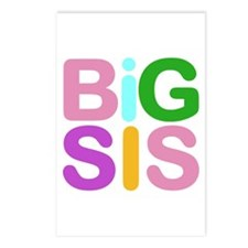 Colorful Funky Big Sis Postcards (Package of 8)
