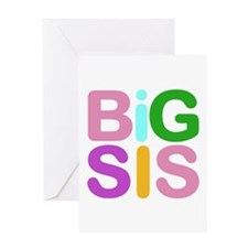 Colorful Funky Big Sis Greeting Card