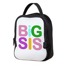 Colorful Funky Big Sis Neoprene Lunch Bag