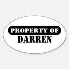 Property of Darren Oval Decal