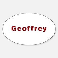 Geoffrey Santa Fur Oval Decal