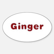 Ginger Santa Fur Oval Decal