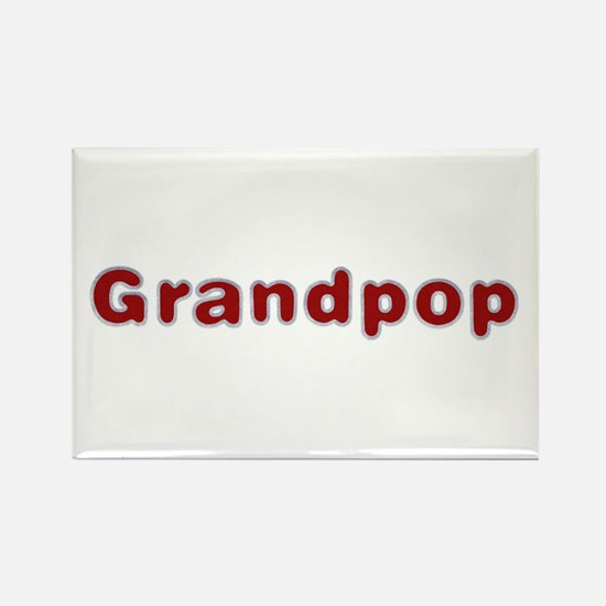 Grandpop Santa Fur Rectangle Magnet