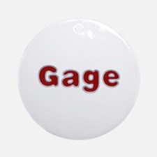 Gage Santa Fur Round Ornament