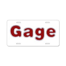 Gage Santa Fur Aluminum License Plate