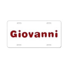 Giovanni Santa Fur Aluminum License Plate