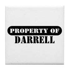 Property of Darrell Tile Coaster