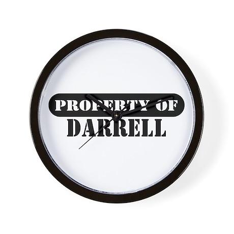 Property of Darrell Wall Clock