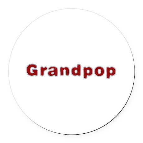 Grandpop Santa Fur Round Car Magnet