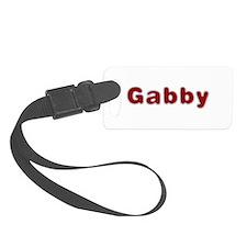 Gabby Santa Fur Luggage Tag