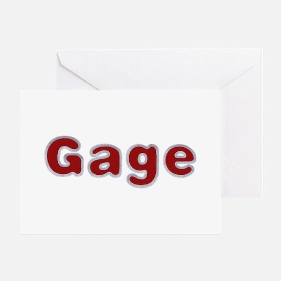 Gage Santa Fur Greeting Card