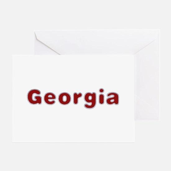 Georgia Santa Fur Greeting Card