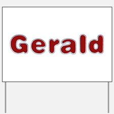 Gerald Santa Fur Yard Sign