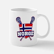 Norway Norsk Lacrosse Logo Mugs