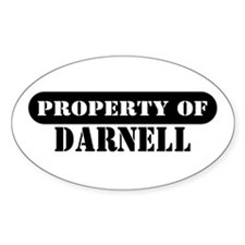 Property of Darnell Oval Decal