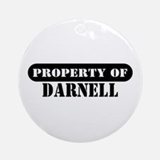 Property of Darnell Ornament (Round)