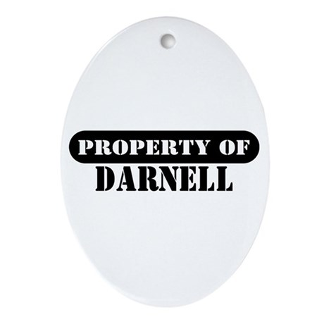 Property of Darnell Oval Ornament