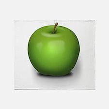 Granny Smith Apple Throw Blanket