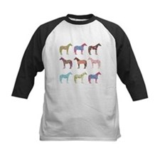 Colorful Horse Pattern Baseball Jersey