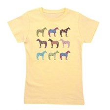 Colorful Horse Pattern Girl's Tee