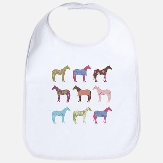 Colorful Horse Pattern Bib