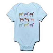 Colorful Horse Pattern Body Suit