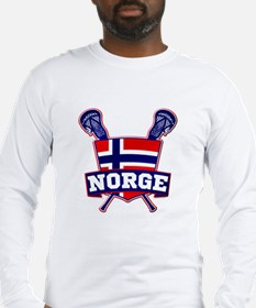 Norway Norsk Lacrosse Logo Long Sleeve T-Shirt