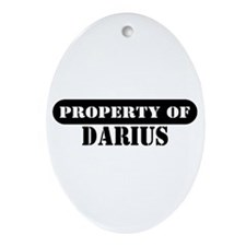 Property of Darius Oval Ornament