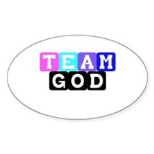 Team God Oval Decal
