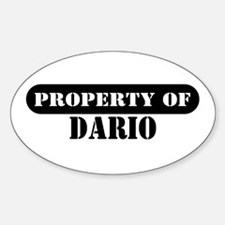 Property of Dario Oval Decal