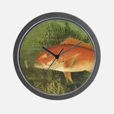 Vintage Fish, Red Snapper Wall Clock