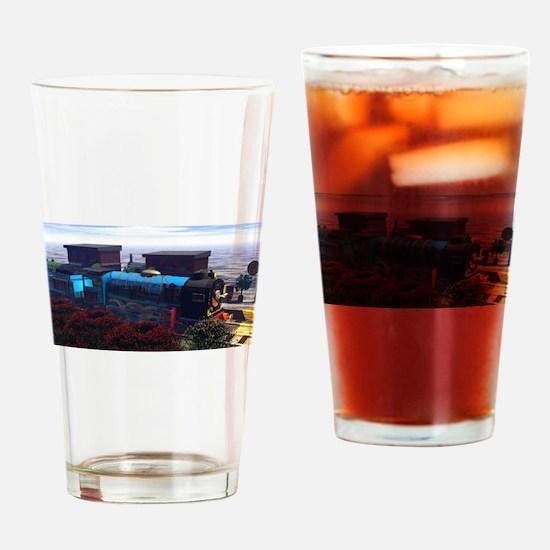 3 Railway Engines Drinking Glass